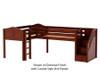 Maxtrix TANDEM Corner Low Loft Bed Twin Size Natural | Maxtrix Furniture | MX-TANDEM-NX