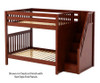 Maxtrix TOPPER High Bunk Bed with Stairs Full Size Chestnut | 26596 | MX-TOPPER-CX