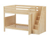 Maxtrix TOPPER High Bunk Bed with Stairs Full Size Natural | Maxtrix Furniture | MX-TOPPER-NX