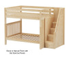 Maxtrix TOPPER High Bunk Bed with Stairs Full Size Natural | 26597 | MX-TOPPER-NX