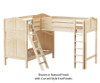 Maxtrix TRIO Corner Loft Bunk Bed Twin Size Chestnut | Maxtrix Furniture | MX-TRIO-CX