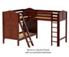 Maxtrix TRIO Corner Loft Bunk Bed Twin Size Natural   Maxtrix Furniture   MX-TRIO-NX