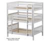 Maxtrix TRIPLEX Triple Bunk Bed Full Size Chestnut | 26605 | MX-TRIPLEX-CX