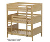 Maxtrix TRIPLEX Triple Bunk Bed Full Size Chestnut | Maxtrix Furniture | MX-TRIPLEX-CX