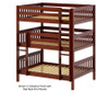 Maxtrix TRIPLEX Triple Bunk Bed Full Size Natural | 26606 | MX-TRIPLEX-NX