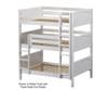 Maxtrix TRIPLEX Triple Bunk Bed Full Size White | Maxtrix Furniture | MX-TRIPLEX-WX
