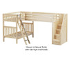 Maxtrix TROIKA Corner Loft Bunk Bed with Stairs Twin Size Natural | 26608 | MX-TROIKA-NX
