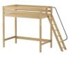 Maxtrix DUNK Ultra-High Loft Bed Twin Size Natural | Maxtrix Furniture | MX-ULTRADUNK-NX