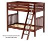 Maxtrix VENTI High Bunk Bed Twin Size Chestnut | 26633 | MX-VENTI-CX