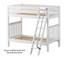 Maxtrix VENTI High Bunk Bed Twin Size White | 26635 | MX-VENTI-WX