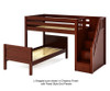 Maxtrix WANGLE L-Shaped Bunk Bed with Stairs Twin Size Natural | Maxtrix Furniture | MX-WANGLE-NX