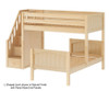 Maxtrix WANGLE L-Shaped Bunk Bed with Stairs Twin Size White | 26641 | MX-WANGLE-WX