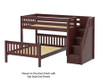 Maxtrix WIGGLE Bunk Bed with Stairs Twin over Full Size Chestnut | Maxtrix Furniture | MX-WIGGLE-CX