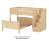 Maxtrix WIGGLE Bunk Bed with Stairs Twin over Full Size Chestnut | 26642 | MX-WIGGLE-CX