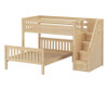 Maxtrix WIGGLE Bunk Bed with Stairs Twin over Full Size Natural | Maxtrix Furniture | MX-WIGGLE-NX
