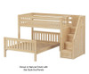 Maxtrix WIGGLE Bunk Bed with Stairs Twin over Full Size White | 26644 | MX-WIGGLE-WX