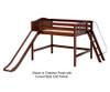 Maxtrix WITTY Mid Loft Bed with Slide Full Size Chestnut | Maxtrix Furniture | MX-WITTY-CX