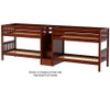 Maxtrix WONDERFUL Quadruple Low Bunk Bed with Stairs Twin Size Chestnut | 26648 | MX-WONDERFUL-CX