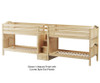 Maxtrix WONDERFUL Quadruple Low Bunk Bed with Stairs Twin Size Natural | Maxtrix Furniture | MX-WONDERFUL-NX