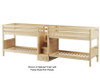 Maxtrix WONDERFUL Quadruple Low Bunk Bed with Stairs Twin Size Natural | 26649 | MX-WONDERFUL-NX