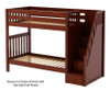 Maxtrix WOPPER High Bunk Bed with Stairs Twin Size Chestnut | 26651 | MX-WOPPER-CX
