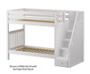 Maxtrix WOPPER High Bunk Bed with Stairs Twin Size White | 26653 | MX-WOPPER-WX