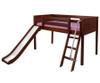 Maxtrix WOW Low Loft Bed with Slide Twin Size Chestnut   Maxtrix Furniture   MX-WOW-CX