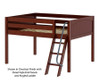 Maxtrix XL Low Loft Bed Full Size Chestnut | 26657 | MX-XL-CX