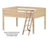 Maxtrix XL Low Loft Bed Full Size White | Maxtrix Furniture | MX-XL-WX