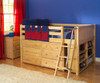 Maxtrix XL Low Loft Bed w/ Dresser & Bookcase Full Size White | Maxtrix Furniture | MX-XL1-WX