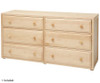 Maxtrix XL Low Loft Bed w/ Dresser & Bookcase Full Size White | 26661 | MX-XL1-WX