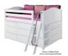 Maxtrix XL Low Loft Bed w/ Dressers Full Size Natural   26663   MX-XL3-NX