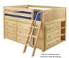 Maxtrix XL Low Loft Bed w/ Dressers Full Size White | 26664 | MX-XL3-WX