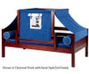 Maxtrix YO Day Bed with Top Tent Twin Size Natural 1 | Maxtrix Furniture | MX-YO22-N