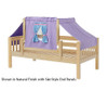 Maxtrix YO Day Bed with Top Tent Twin Size Natural 4 | 26683 | MX-YO27-N