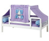 Maxtrix YO Day Bed with Top Tent Twin Size White 4 | Maxtrix Furniture | MX-YO27-W