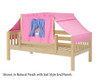 Maxtrix YO Day Bed with Top Tent Twin Size Natural 5 | 26686 | MX-YO28-N