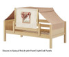 Maxtrix YO Day Bed with Top Tent Twin Size Natural 7 | 26692 | MX-YO30-N