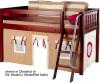 Maxtrix Low Loft Bed w/ Angled Ladder and Curtains | Matrix Furniture | MXEASYRIDER