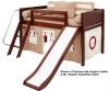 Maxtrix Low Loft Bed w/Slide & Curtains | 26730 | MXMARV-WOW