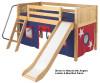Maxtrix Low Loft Bed w/Slide & Curtains | Matrix Furniture | MXMARV-WOW