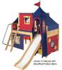 Maxtrix Low Loft Bed w/ Top Tent & Slide 2 | 26744 | MXWOW3