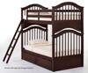 School House Jordan Bunk Bed Chocolate | NE Kids | NE-5010BUNK