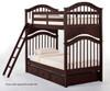School House Jordan Bunk Bed Chocolate | 26832 | NE-5010BUNK