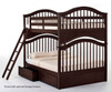 School House Jordan Full over Full Bunk Bed Chocolate | NE Kids | NE-5015BUNK