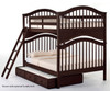 School House Jordan Full over Full Bunk Bed Chocolate | 26833 | NE-5015BUNK
