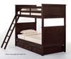 School House Casey Bunk Bed Chocolate | 26834 | NE-5020BUNK