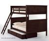 School House Casey Full over Full Bunk Bed Chocolate | 26835 | NE-5025BUNK