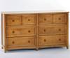 School House 6 Drawer Dresser Pecan | NE Kids Furniture | NE-6500