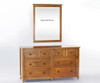 School House 6 Drawer Dresser Pecan | 26870 | NE-6500